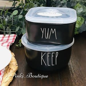 💗🏡RAE DUNN 2pc Ceramic Food Container Bowls!